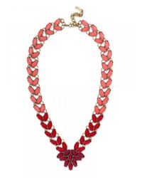 BaubleBar | Marble Garland Brooch Collar-red | Lyst