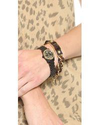 Michael Kors - Metallic Curb Chain Plaque Toggle Bracelet - Gold/Tortoise - Lyst