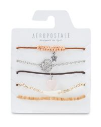 Aéropostale | Multicolor Rose Tusk Cord & Stretch Bracelet 5-pack | Lyst