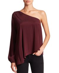 Ramy Brook - Red Kanye One-shoulder Blouse - Lyst