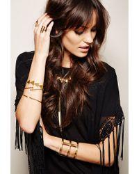 Forever 21 | Metallic Soko Triangle Charm Bracelet | Lyst