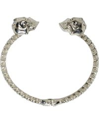 Alexander McQueen | Metallic Silver And Crystal Studded Skull Cuff | Lyst