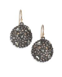 Alexis Bittar | Metallic Small Labradorite Teardrop Earrings | Lyst