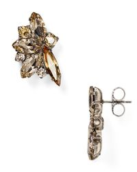 Sorrelli | Metallic Navette Stud Earrings | Lyst
