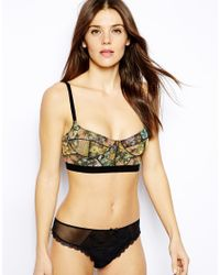 Free People - Black Floral Embroidered Sheer Lace Thong - Lyst