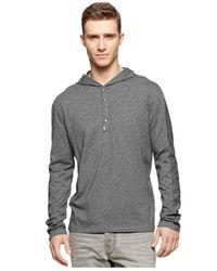 Calvin Klein Jeans | Gray Sleek Hoodie for Men | Lyst