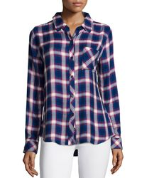 Rails - Blue Jackson Plaid Long-sleeve Shirt - Lyst