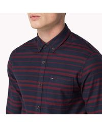 Tommy Hilfiger | Blue Cotton Twill Shirt for Men | Lyst