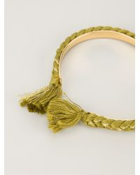 Aurelie Bidermann | Green Thin 'copacabana' Bracelet | Lyst