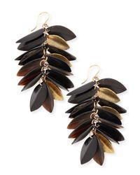 Ashley Pittman | Metallic Tanzu Dark Horn & Leaf Earrings | Lyst