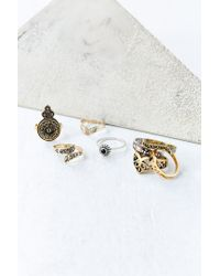 Urban Outfitters - Metallic Collective Ring Set - Lyst