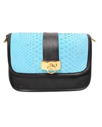 Philippe Roucou - Blue Peppermint Python Handbag - Lyst