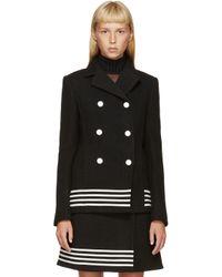 Paco Rabanne - Black And White Wool Stripe Jacket - Lyst