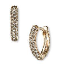 Judith Jack | Metallic Swarovski Crystal And Sterling Silver Hoop Earrings | Lyst