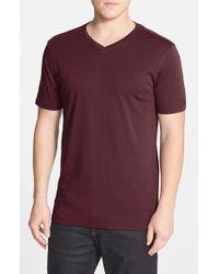 Robert Barakett | Red 'Georgia' V-Neck Pima Cotton T-Shirt for Men | Lyst