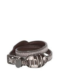 Bottega Veneta | Multicolor Double Intreccio Karung Bracelet | Lyst