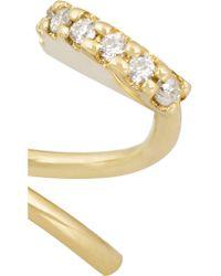 Maria Black   Metallic Lila Twirl 18-karat Gold Diamond Earrings   Lyst