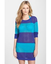 Tommy Bahama | Blue Stripe Cover-up Sweater | Lyst