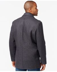 Marc New York - Gray Joshua Wool-blend Coat for Men - Lyst