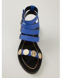 KENZO | Blue 'coins' Sandals | Lyst
