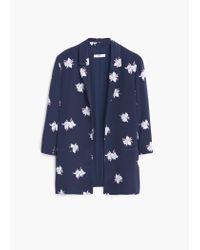 Mango | Blue Unstructured Flowy Blazer | Lyst