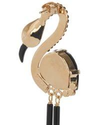 Etro - Black Flamingo Gold-plated - Lyst