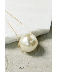 Urban Outfitters - White Large Pearl Pendant Necklace - Lyst
