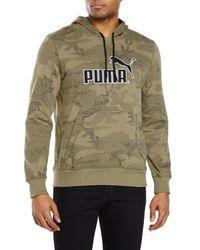 PUMA - Green No. 1 Logo Hoodie for Men - Lyst
