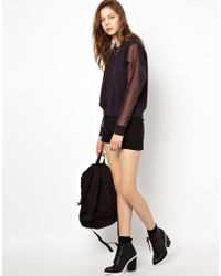 Cheap Monday - Black Sweatshirt with Organza Sleeves - Lyst