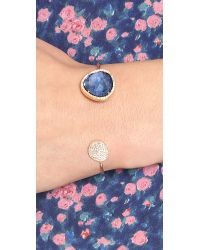 Tai | Blue Pave Large Stone Open Cuff | Lyst