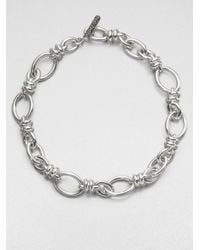 Pomellato | Metallic Sterling Silver Rondelle Link Necklace | Lyst