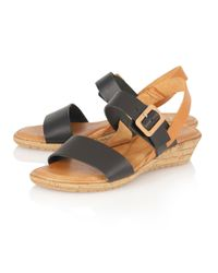 Lotus - Black Banos Open Toe Sandals - Lyst
