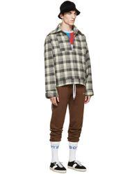 Gosha Rubchinskiy - Gray Grey Check Flannel Shirt Jacket for Men - Lyst