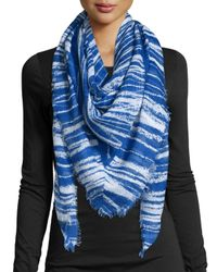 Michael Stars | Black Pencil Marks Square Scarf | Lyst