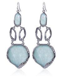 Alexis Bittar - Blue Rhodiumtone Amazonite Chandelier Earrings - Lyst