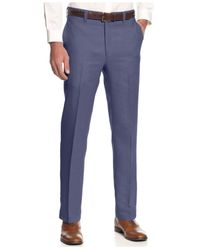 080060c8db Lyst - Lauren By Ralph Lauren Solid Linen Dress Pants in Purple for Men