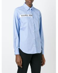 AALTO - Blue Embroidered Shirt - Lyst