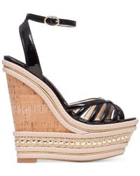 Jessica Simpson | Natural Aimms Two-piece Wedge Sandals | Lyst