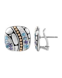 John Hardy | Metallic Kali Lavafire Sea Square Stud Earrings | Lyst