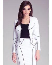 Bebe   White Kelsey Jacket   Lyst