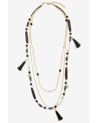 Nasty Gal - Black Priscilla Beaded Necklace - Lyst