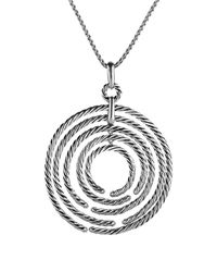David Yurman | Metallic Willow Pendant With Diamonds On Chain | Lyst