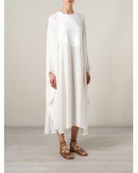 Valentino - White Oversized Dress - Lyst
