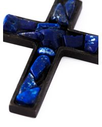 DSquared² | Black Jade Crucifix Necklace for Men | Lyst