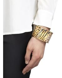 Halcyon Days | Metallic 18Kt Gold Trimmed Enamel Bangle | Lyst