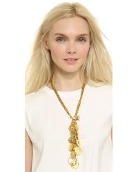 Erickson Beamon - Metallic My Beloved Charm & Chain Necklace - Gold - Lyst
