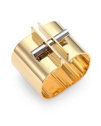 Chloé - Metallic Twotone Bar Lock Bracelet - Lyst