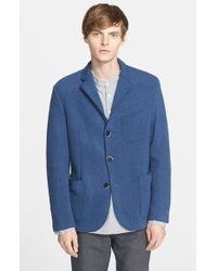 Barena - Blue Three-button Knit Sport Coat for Men - Lyst