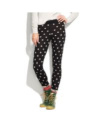 Madewell - Black Spotted Sweater-Leggings - Lyst