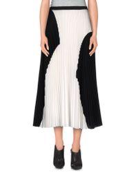 Proenza Schouler | Black 3/4 Length Skirt | Lyst
